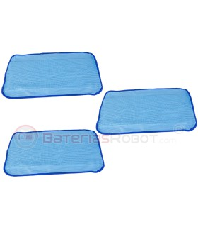 3 x Mopa Braava - blue wet cleaning (Compatible iRobot)
