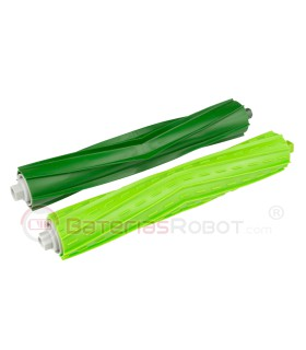 Pack Rodillos Extractor AeroForce Verdes. Roomba iRobot - Serie e, Serie i, Serie s.
