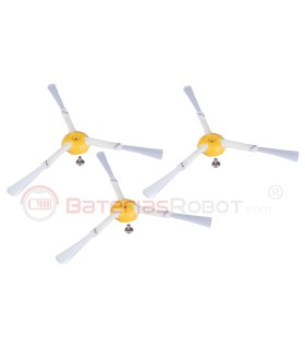 Pack 3 Cepillos laterales Roomba series 800 y 900. (Compatible iRobot)