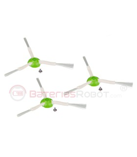 Pack 3 Cepillos laterales Roomba Series e, i, s (Compatible iRobot)