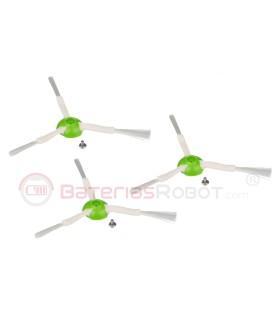 3 Pennelli laterali per Roomba Serie e, i - (Compatibile iRobot)