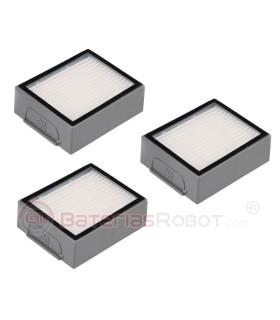 3 filtros HEPA Roomba - Serie e, Serie i  (Compatible iRobot)