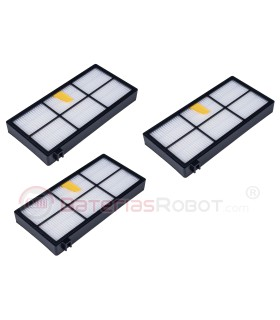 Set of 3 filters HEPA Roomba - 800 900 Series (compatible iRobot)