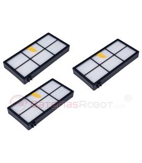 Set of 3 filters HEPA Roomba - 800 900 Series (compatible iRobot)