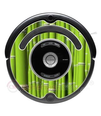 Bambú. Vinilo decorativo para Roomba - Serie 500 600