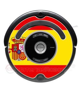 Bandera de España. Pegatina para Roomba - Serie 500 600