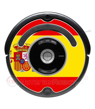 Spanish flag. Sticker for Roomba - 500 & 600 series