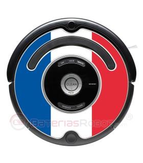 Flagge von Frankreich. Aufkleber für Roomba - Serie 500 600 / V1
