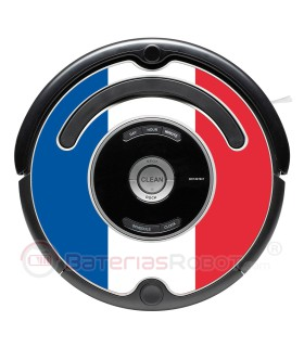 French flag. Sticker for Roomba - 500 and 600 series / V1