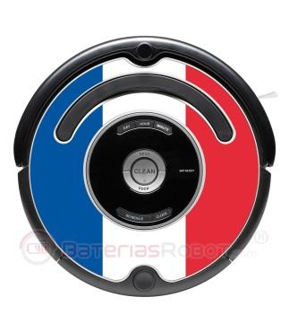 Bandera de Francia. Pegatina para Roomba  - Serie 500 600 / V1