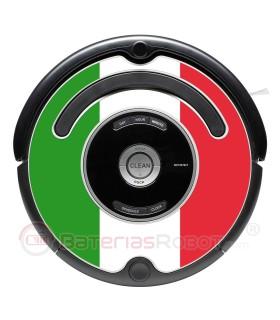 Flagge von Italien. Aufkleber für Roomba