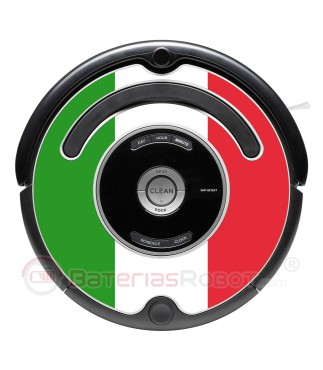 Italian flag. Sticker for Roomba - 500 and 600 series / V1