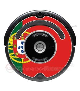 Bandera de Portugal. Pegatina para Roomba - Serie 500 600