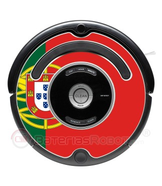 Portuguese flag. Sticker for Roomba - 500 & 600 series