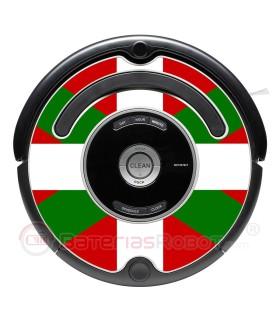 Ikurriña, Drapeau du Pays Basque. Autocollant pour Roomba - Série 500 600 / V1