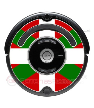 Ikurriña Bandera País Vasco. Pegatina para Roomba - Serie 500 600