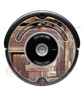 Old wood. Vinyl for Roomba - Serie 500 600