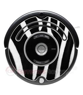 Zebra. Decorative vinyl for Roomba- 500 & 600 series