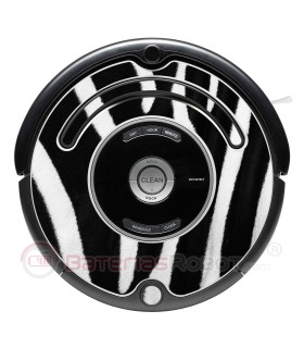 Zebra. Dekorative Vinyl für Roomba - Serie 500 600