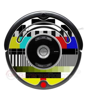 Carta de ajuste. Vinil decorativo para o Roomba - Serie 500 600