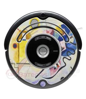 Kandinsky abstrakte 1. Vinyl für iRobot Roomba - 500 600 Serie