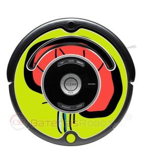 POP-ART Gehirn. Vinyl für iRobot Roomba - 500 600 Serie