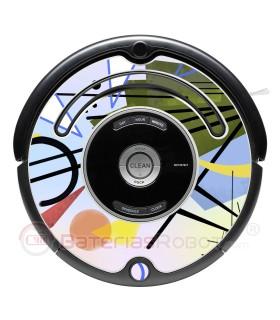 3 abstrakte Kandinsky. Vinyl für iRobot Roomba - 500 600 Serie