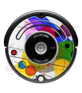 POP-ART Kandinsky circles. Vinyl for Roomba - Serie 500 600