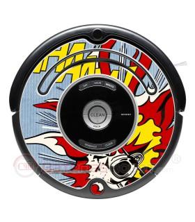 Explosion du POP-ART. Vinyle Roomba iRobot - 500 600 série
