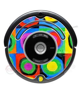 2 abstrakte Kandinsky. Vinyl für iRobot Roomba - 500 600 Serie
