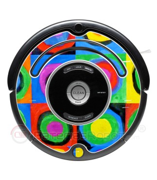 Kandinsky Abstract 2. Vinyl for Roomba iRobot - 500 & 600 series