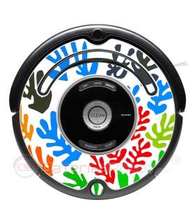 POP-ART Flores de Matisse. Vinilo para Roomba iRobot - Serie 500 600