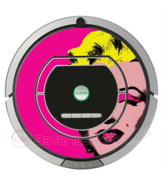 POP-ART. Vinilo decorativo para Roomba iRobot - Serie 700, 800