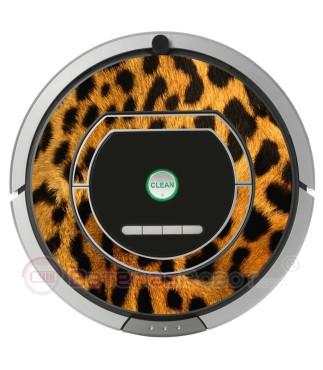 Leopardo. Vinilo decorativo para Roomba iRobot - Serie 700.