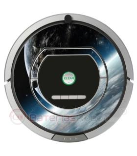 Space 2. Vinilo decorativo para Roomba iRobot - Serie 700.