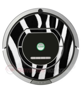 Cebra. Vinilo decorativo para Roomba iRobot - Serie 700.