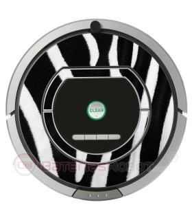 Zèbre. Vinyle pour Roomba  - Sèrie 700