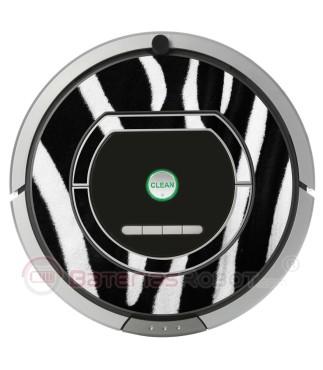 Cebra. Vinilo decorativo para Roomba iRobot - Serie 700 800.
