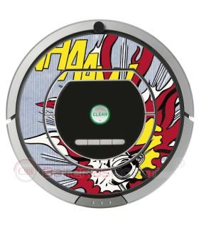 POP-ART Explosion. Vinyle Roomba iRobot - Série 700