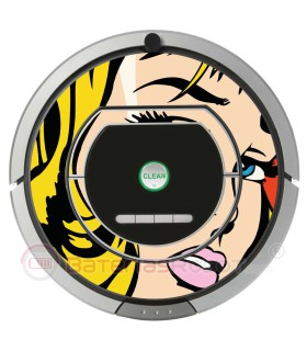 POP-ART Fille Warhol. Vinyle Roomba iRobot- Série 700