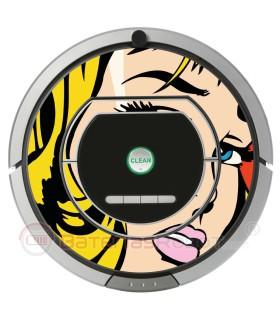 POP ART Mädchen Warhol. Vinyl für iRobot Roomba - Serie 700