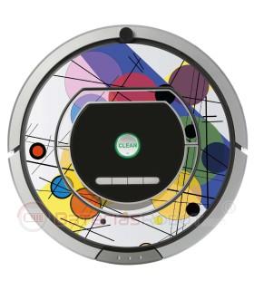 POP-ART Círculos de Kandinsky. Vinil para iRobot Roomba - Série 700