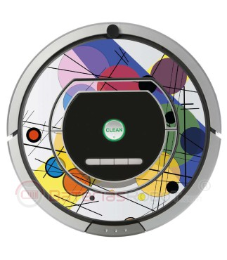POP-ART Kandinsky circles. Vinyl for Roomba - Serie 700