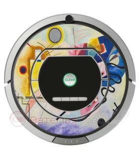 Kandinsky Abstrait 1. Vinyle pour Roomba iRobot - Série 700