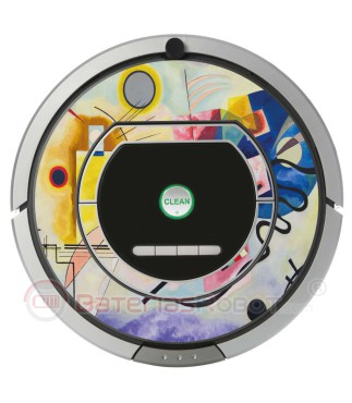 Kandinsky Abstract 1. Vinyl for Roomba iRobot - Serie 700