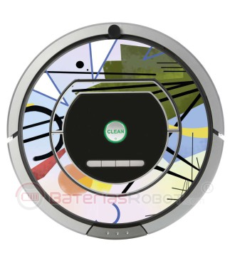 Kandinsky Abstract 3. Vinyl for Roomba iRobot - Serie 700