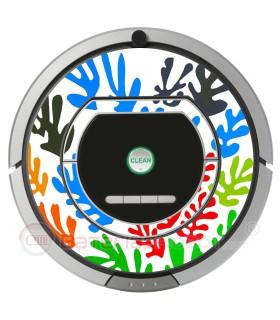 POP-ART Fleurs de Matisse. Vinyle pour RoombaiRobot - Série 700
