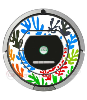 POP-ART Matisse flowers. Vinyl for Roomba iRobot - Serie 700