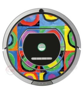 Kandinsky abstrakte 2. Vinyl für iRobot Roomba - Serie 700