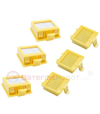 Set of two filters for Roomba 700 (Compatible iRobot)